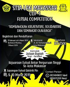 Kompetisi Futsal STIA LAN Cup @ Lapangan Futsal Elektrik PLN